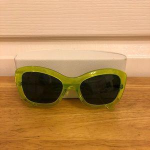 Lucite Green Prada Sunglasses